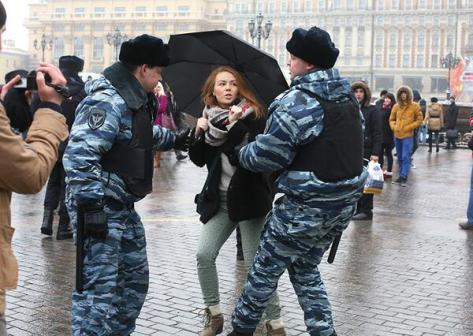 umbrellas are a symbol of free speech in putin's russia.