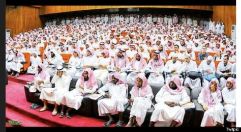all male WOMENS CONFERENCE in Saudi Arabia