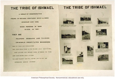 a acmpaign of extermination was conducted in the US to rid society of the tribe of ishmael, a tri-racial semi-nomadic people who inhabited the ohio river valley and surrounding area. american eugenics laws later inspired the nazi party in germany. similar programs have been implemented in every english-speaking colonial nation.