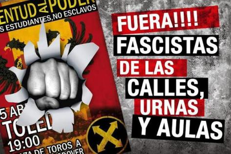 anti-fascist gathering iin toledo, spain