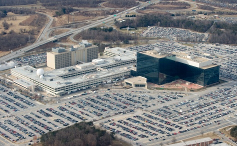 The National Security Agency (NSA) headquarters at Fort Meade, Maryland, as seen from the air, January 29, 2010.      AFP PHOTO/Saul LOEB (Photo credit should read SAUL LOEB/AFP/Getty Images)
