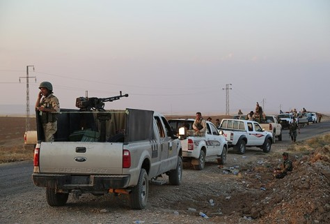 Iraqi Kurdish peshmerga fighters entered the Syrian town of Kobani through the border crossing with Turkey (nov 1,2014)
