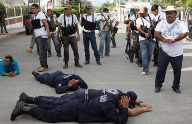 autodefensas tells mexican narcostate they are not needed, keep out!
