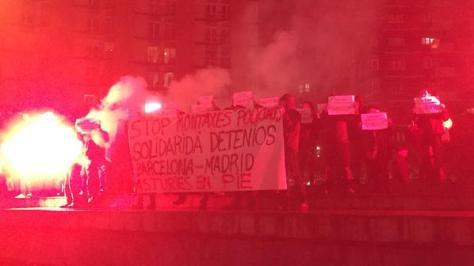 solidarity demo in zaragoza