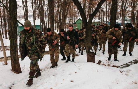 "Some members of the battalion ""death"" report that they had previously only been fighting in the city, in the Russian North Caucasus republic of Chechnya against Russia, but then joined the pro-Kremlin forces."
