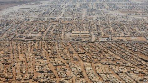 Zaatari Syrian refugee camp in Jordan, Source AP